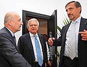 I tre coordinatori del Pdl: da sinistra, Sandro Bondi, Denis Verdini e Ignazio La Russa