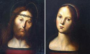 I due oli su tavola del Perugino, in mostra per la prima volta da sabato nella Galleria civica di San Zenone di Campione d'Italia
