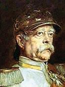 Un ritratto di Otto von Bismarck (1815-1898), primo ministro prussiano all'epoca di Sadowa