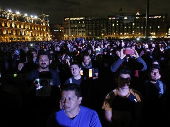 La manifestazione a Città del Messico, il 22 ottobre (Reuters)