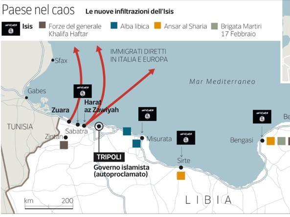 Sbarchi dalla Libia guidati da cellule del terrore islamico  Corriereit