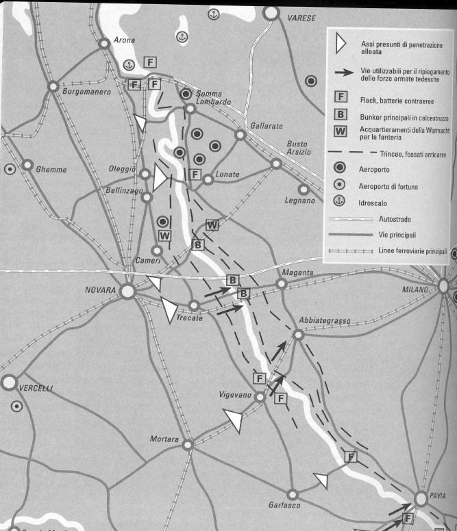 La linea difensiva tedesca realizzata dalla Todt lungo