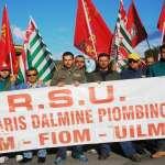 il corteo dei lavoratori Dalmine di marcoledì 14 ottobre