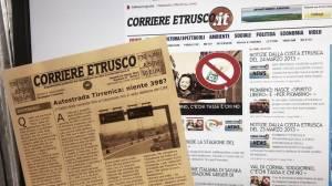 Il cartaceo e l'on-line del Corriere Etrusco