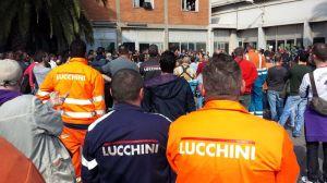 Un momento di un'assemblea Lucchini