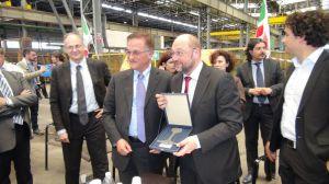 Piero Nardi con Martin Schulz alla Lucchini