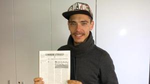 Andrea Lenzi nella redazione del Corriere Etrusco