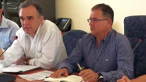 Il sindaco Giuliani (a destra) con Enrico Rossi