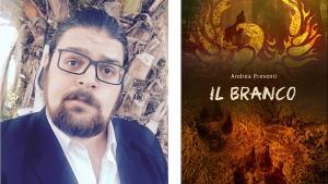 Andrea Presenti e la copertina del libro