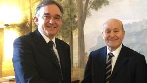 Enrico Rossi insieme a Issad Rebrab