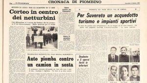 """una pagina de """"Il Telegrafo"""" del 1965"""