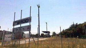 Le antenne allo stadio di San Vincenzo
