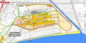 la pianta del progetto Cevital di occupazione del Quagliodromo