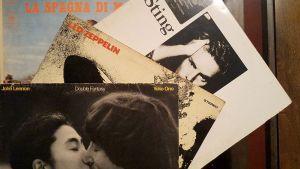 alcuni dischi in vinile