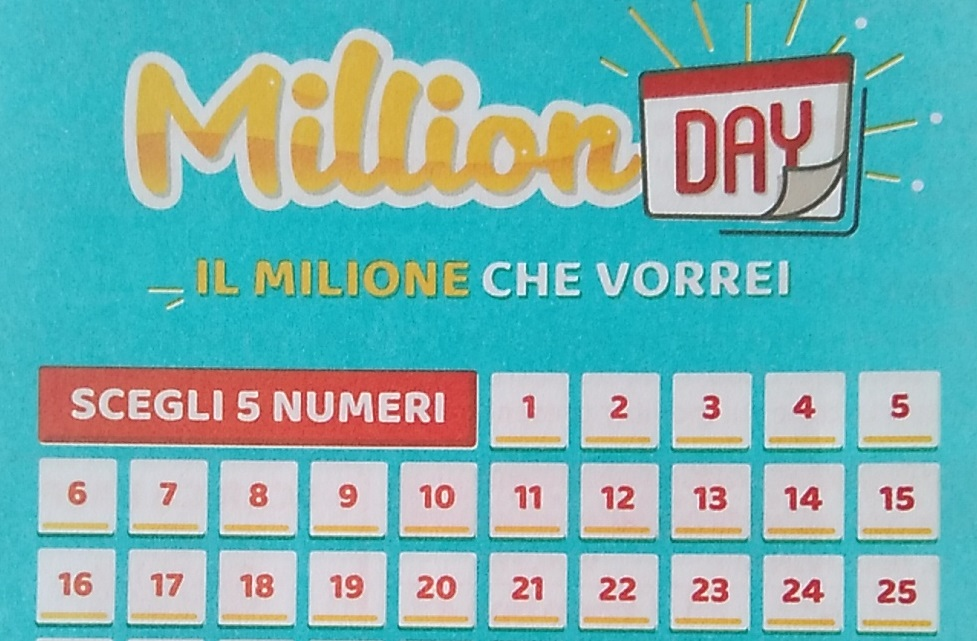 Estrazione million day lottomatica del 13 aprile i 5 for Million day estrazione di oggi