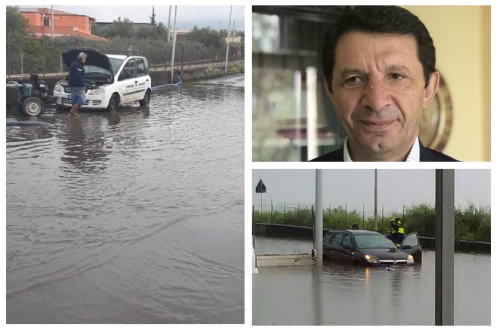 """Adrano, il sindaco assicura: """"Il 'lago' della Naviccia presto sparirà"""". Intervento provvisorio ma risolutivo - Corriere Etneo"""