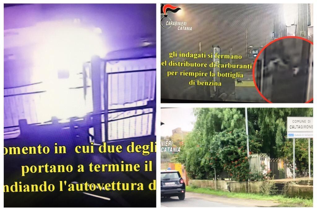 Caltagirone, brucia l'auto dell'ex compagna dopo essere stato respinto: 3 indagati (VIDEO)