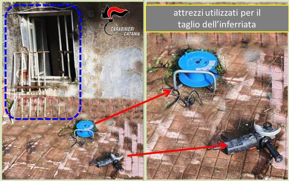 Aci Castello, 'aprono' inferriata con il flex: in manette 2 ladri pronti a entrare in azione
