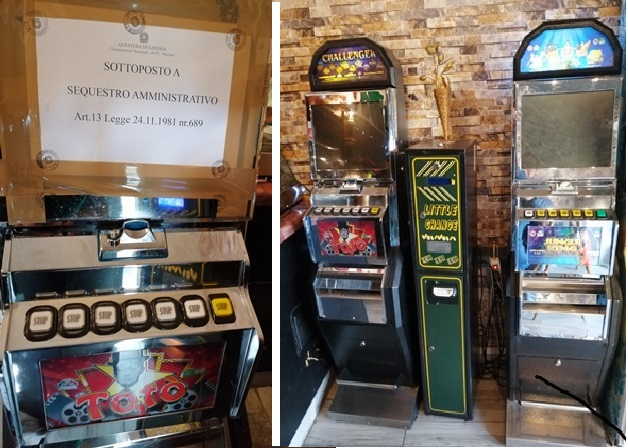 Catania, Polizia commina maxi-sanzione di 88 mila euro a bar con 'slot machine' abusive