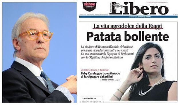 Catania, il Gup rinvia a giudizio Vittorio Feltri per titolo 'Patata bollente': lo annuncia il sindaco di Roma Virginia Raggi