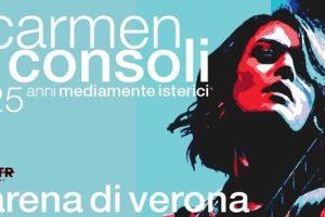 Rinviata di un anno la festa per i 25 anni di carriera di Carmen Consoli: all'Arena di Verona il 25 agosto 2021