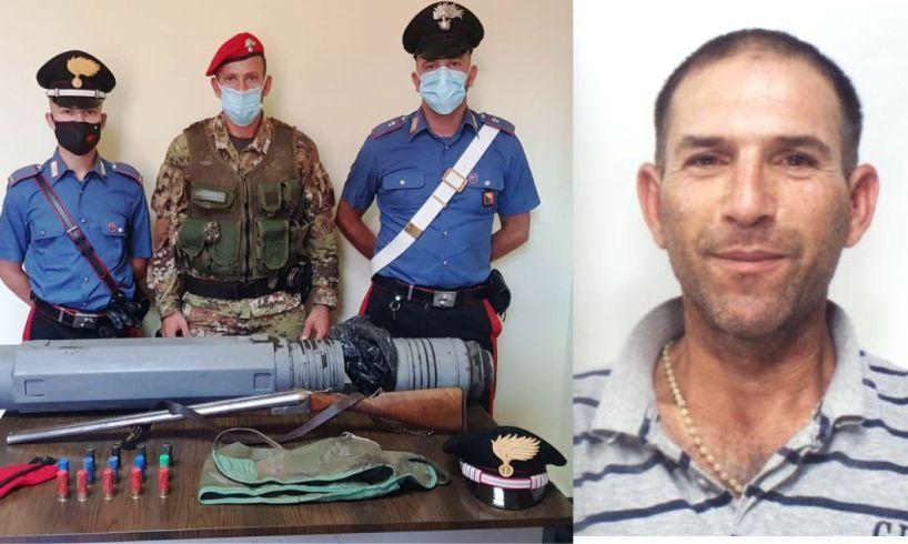 Ramacca, in campagna nascondeva sottoterra fucile e munizioni: arrestato 42enne