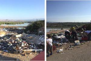 """Paternò, volontari bonificano un'area di Ponte Barca: """"Questo luogo torni alla sua naturale bellezza"""""""