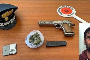 Vizzini, in casa aveva pistola modificata e marijuana: ai domiciliari 34enne