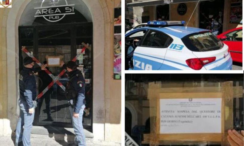 Catania, pub di via Coppola chiuso per la quarta volta: clienti senza mascherina e altre violazioni