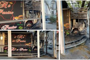Adrano, fiamme al camion dei panini di Piazza S. Agostino: l'ex gestore ora collabora con i magistrati
