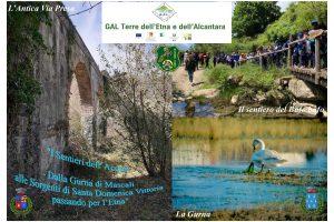 """Mascali, le Giacche Verdi di Bronte presentano i """"Sentieri dell'Acqua"""": progetto finanziato dal Gal Terre dell'Etna e dell'Alcantara"""