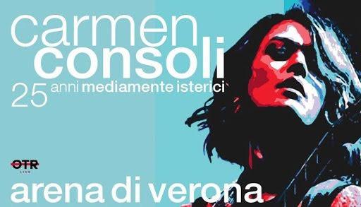 Il ritorno dal vivo di Carmen Consoli: all'Arena di Verona concerto-evento il 25 agosto