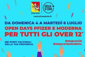 Vaccini, in Sicilia da domani a martedì Open Days per gli over 12
