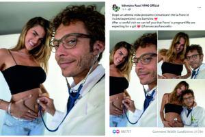Valentino Rossi diventerà papà: l'annuncio su Twitter dopo la 'visita' alla sua compagna