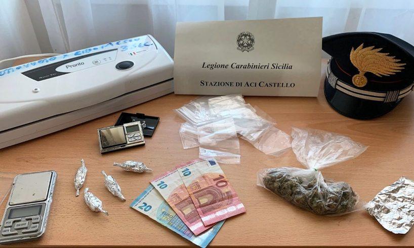 Ad Aci Castello e Aci S. Antonio controlli anticovid: un arresto, droga sequestrata e locale sanzionato