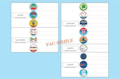Adrano, ecco la scheda elettorale per il voto del 10 e 11 ottobre: 15 simboli per 5 candidati a sindaco