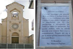 """Paternó, avviso del parroco di San Giovanni Bosco: """"A contatto con un positivo, mi metto in quarantena"""""""