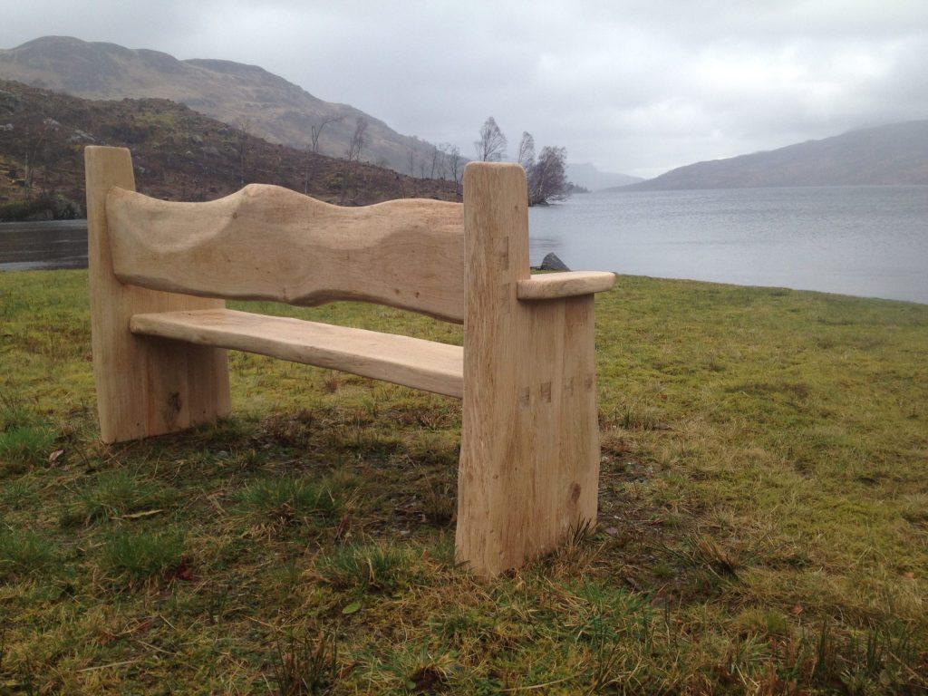 Oak external bench