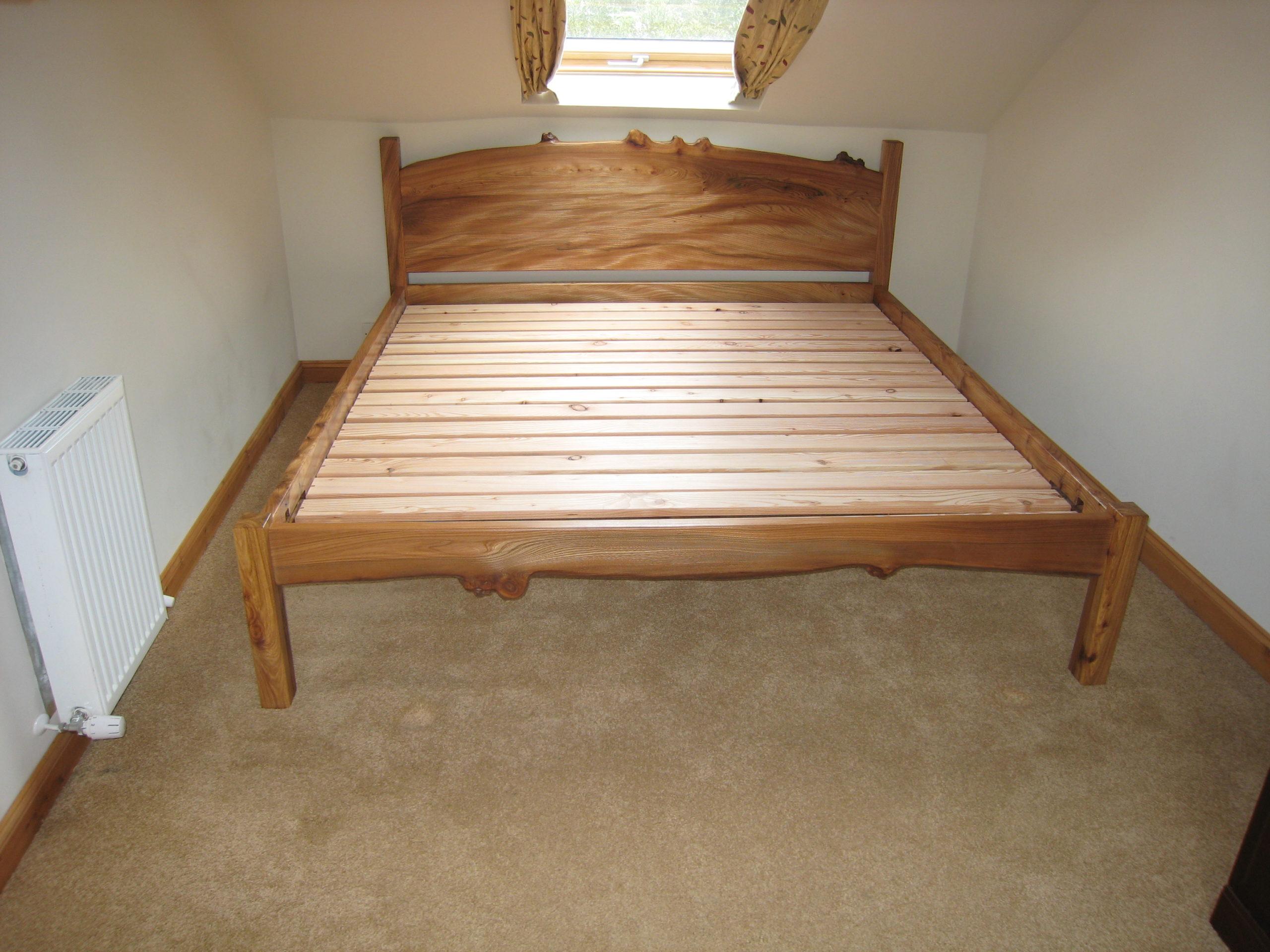 Elm super-king-sized bed