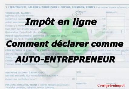 Auto Entrepreneur Comment Remplir La Declaration D Impot