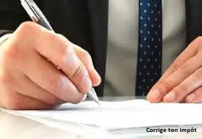 Comment Corriger Une Déclaration D Impôt Déjà Faite