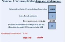 Simulateur excel : calcul des droits de succession/donation