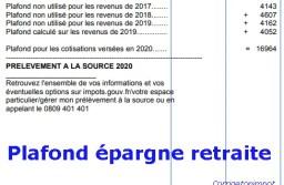 Comment marche le PLAFOND EPARGNE RETRAITE? calcul des impôts, exemples et impact des Per-Perco-Madelin.