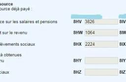 Impôt à la source déjà payé : les cases 8HV, 8HW et 8EA sur votre déclaration 2020.