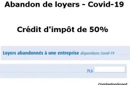 Abandon de loyers suite au Covid-19 : crédit d'impôt ou exonération?