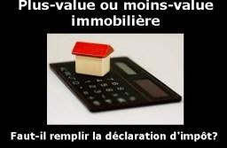 Plus-value ou moins-value en cas de vente immobilière : faut-il remplir la déclaration d'impôt en case 3VZ?