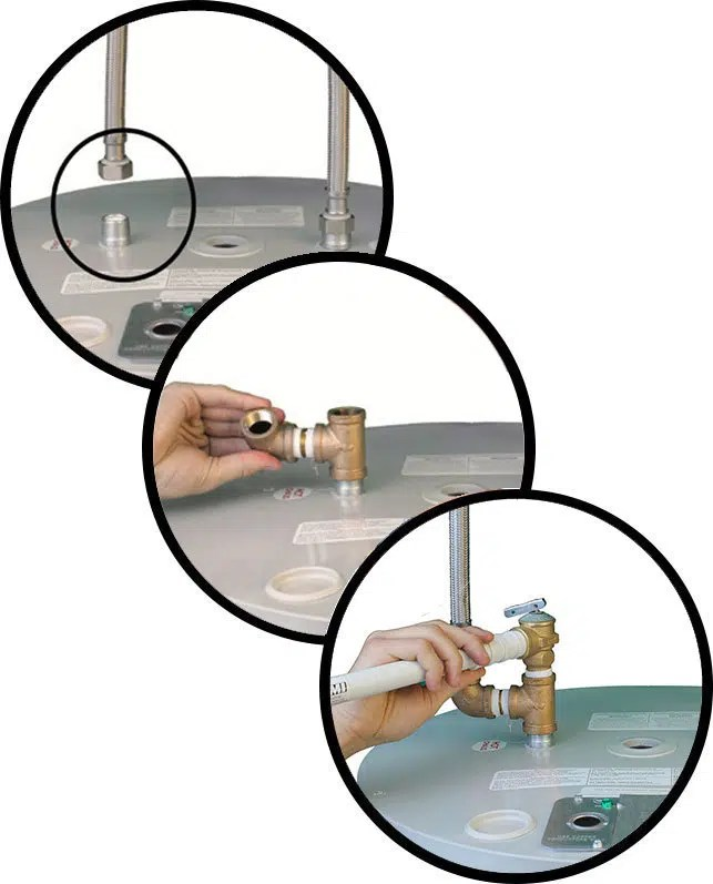 remplacer la soupape de décharge