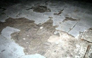 An image of a concrete floor with moisture issues, Concrete Flooring Excessive Moisture