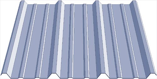 corrugated siding panel