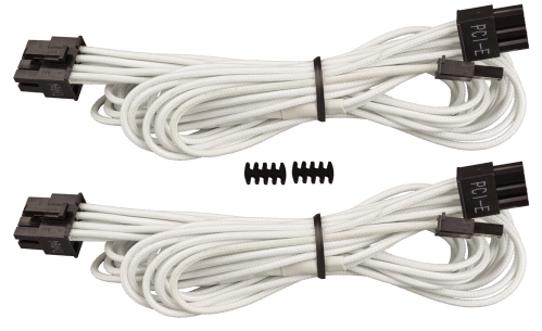 small resolution of corsair premium individually sleeved type 4 generation 3 pcie cables with single connectors feature a flexible paracord sleeve and in line capacitors that